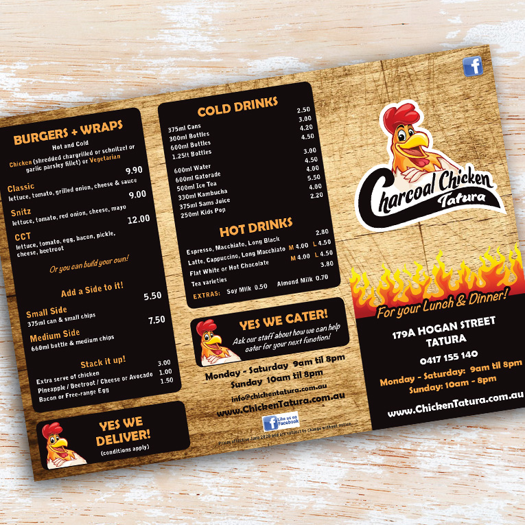 Charcoal Chicken menu 1 - Project Charcoal Chicken