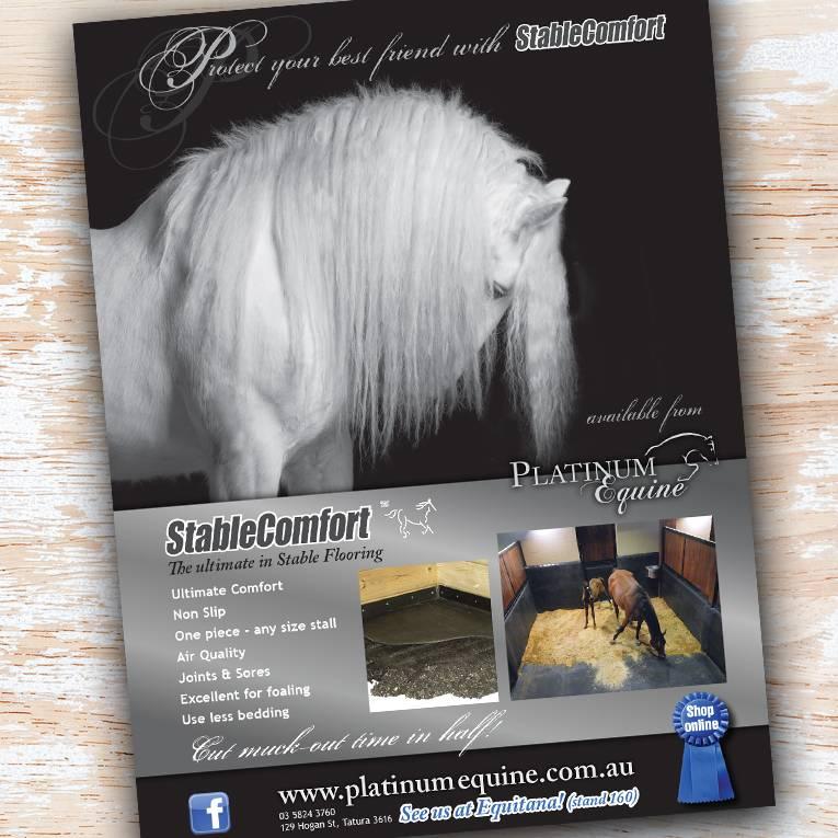 Platinum Equine stable ad - Project Platinum Equine