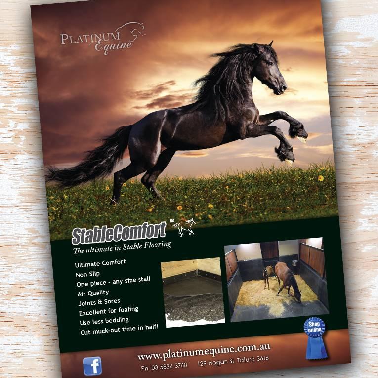 Platinum Equine sunset ad - Project Platinum Equine